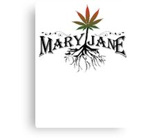 Earthy Mary Jane Roots Canvas Print