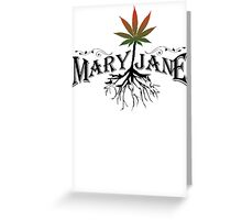Earthy Mary Jane Roots Greeting Card