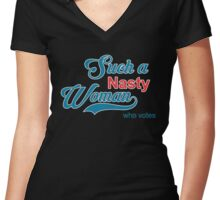 Nasty WHo VOtes Women's Fitted V-Neck T-Shirt