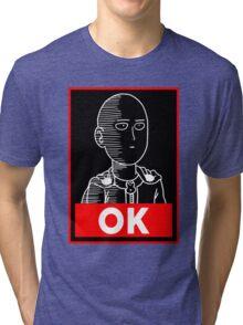 Saitama Ok Tri-blend T-Shirt