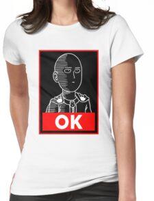 Saitama Ok Womens Fitted T-Shirt