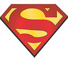 superman grey Photographic Print