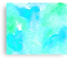 Aquamarine watercolor Canvas Print