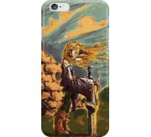 Girl with a big sword iPhone Case/Skin