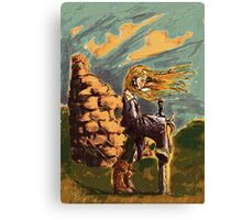 Girl with a big sword Canvas Print