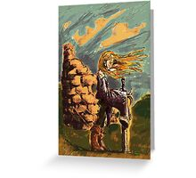Girl with a big sword Greeting Card