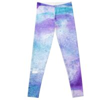 Amethyst watercolor Leggings