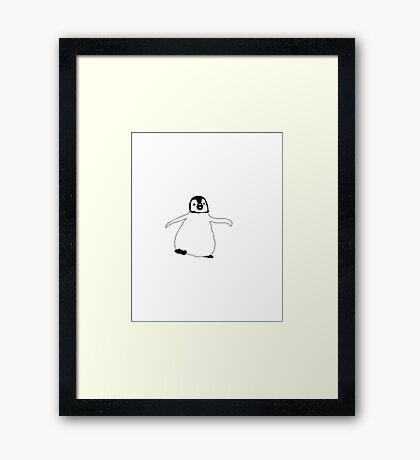 Happy Penguin Framed Print
