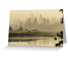 Misty Green Greeting Card
