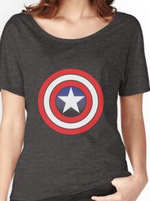 captain america blue Women's Relaxed Fit T-Shirt