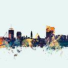Cardiff Wales Skyline by Michael Tompsett