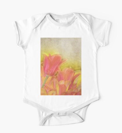 Spring Tulips in Pastels One Piece - Short Sleeve