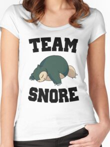 Team Snore Snorlax Women's Fitted Scoop T-Shirt