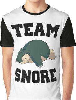 Team Snore Snorlax Graphic T-Shirt