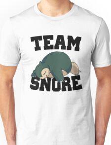 Team Snore Snorlax v2 Unisex T-Shirt