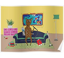 Diego the Deer Cleans Up Poster