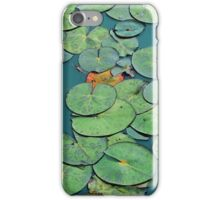 Tranquil green waterlily pads iPhone Case/Skin