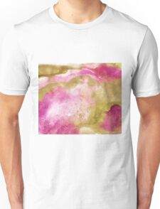 Gold foil infused pink watercolor Unisex T-Shirt