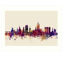 Aberdeen Scotland Skyline Art Print