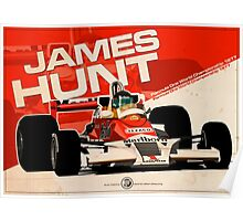 JAMES HUNT 1977 Poster