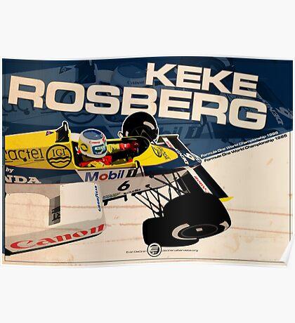 KEKE ROSBERG 1985 Poster