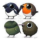 Small Fat Birds by Demmy