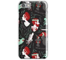 Shakespearean pattern - Macbeth iPhone Case/Skin