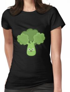 Vegan - Kawaii Broccoli Womens Fitted T-Shirt