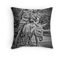 Simpson And His Donkey, 1915 (B&W) Throw Pillow