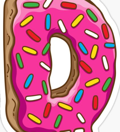 D is for Donut Sticker