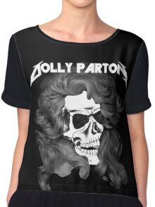 Dolly Parton Metal Chiffon Top