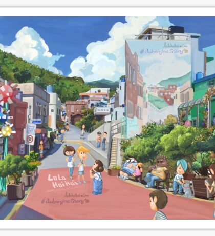 lolo at Busan travel Sticker