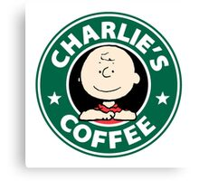 Charlie Brown Starbucks Canvas Print