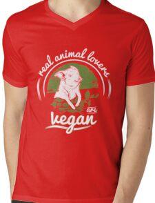Vegan - Real Animal Lovers Are Vegan Mens V-Neck T-Shirt