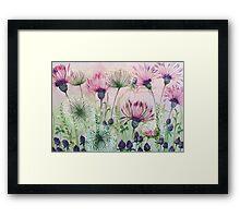 Purple Clover Framed Print