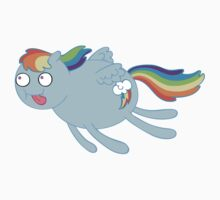 My Little Poobrain - Rainbow Dash Kids Tee