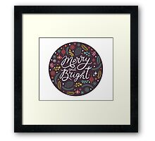 Merry and bright bauble Framed Print