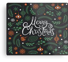 Merry Christmas greenery Metal Print