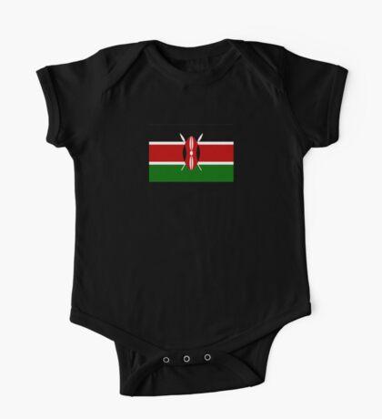 Kenya Flag T-Shirt - Kenyan Nairobi Sticker One Piece - Short Sleeve