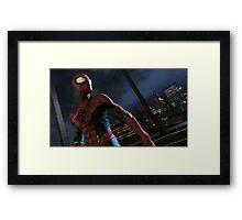 Spiderman Edge Of Time Framed Print