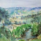 Along the Hunter River, NSW, Australia by Margaret Morgan (Watkins)