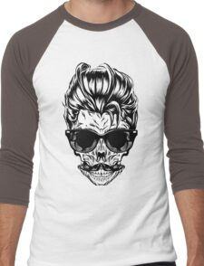 Hipster skull with sunglasses Men's Baseball ¾ T-Shirt