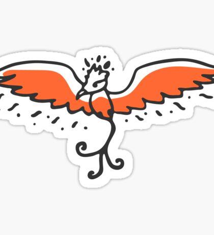 Cute little phoenix Sticker