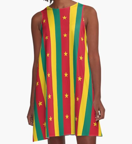 Cameroon Flag National Football Team T-Shirt Sticker A-Line Dress