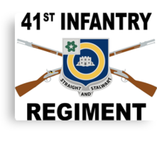 41st Infantry Regiment - Straight And Stalwart Canvas Print