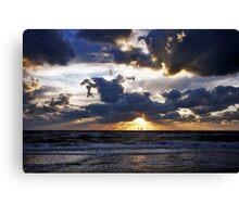 Dramatic sunset Canvas Print