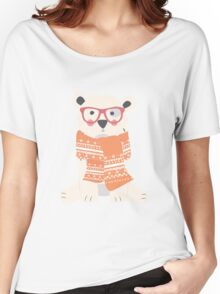 Polar bear, pattern 002 Women's Relaxed Fit T-Shirt