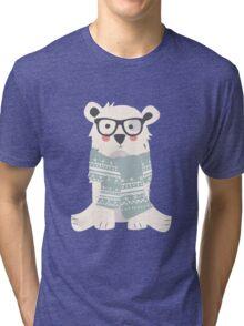 Polar bear, pattern 003 Tri-blend T-Shirt