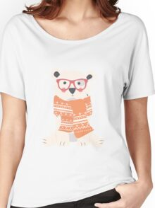 Polar bear, pattern 004 Women's Relaxed Fit T-Shirt