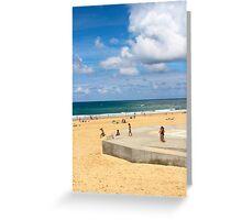 Kids Having Fun on the Beach - Hossegor, France Greeting Card